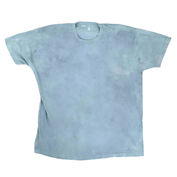 Light Indigo Dyed Screen Stars T-Shirt