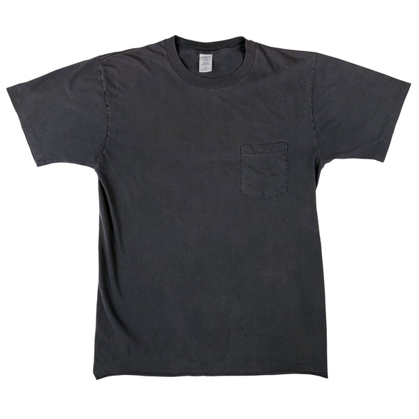 Blank Towncraft Black Pocket T-Shirt (X-Large)