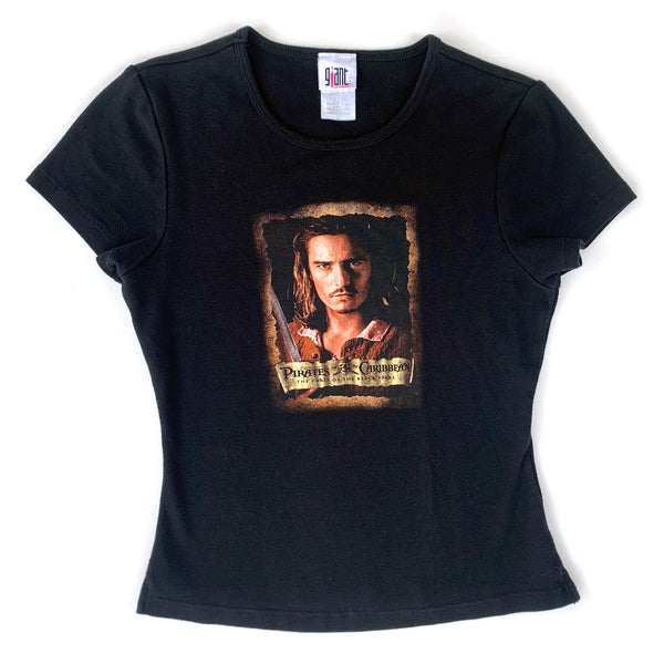 Pirates of the Caribbean Orlando Bloom Baby Doll T-Shirt