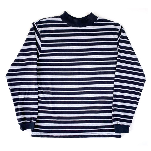 Basic Editions Black White & Grey L/S Striped Shirt