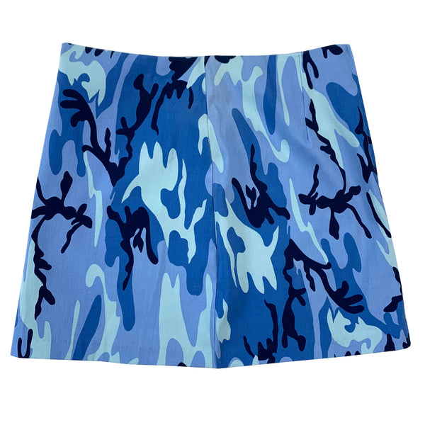 Blue Camo Mini Skirt