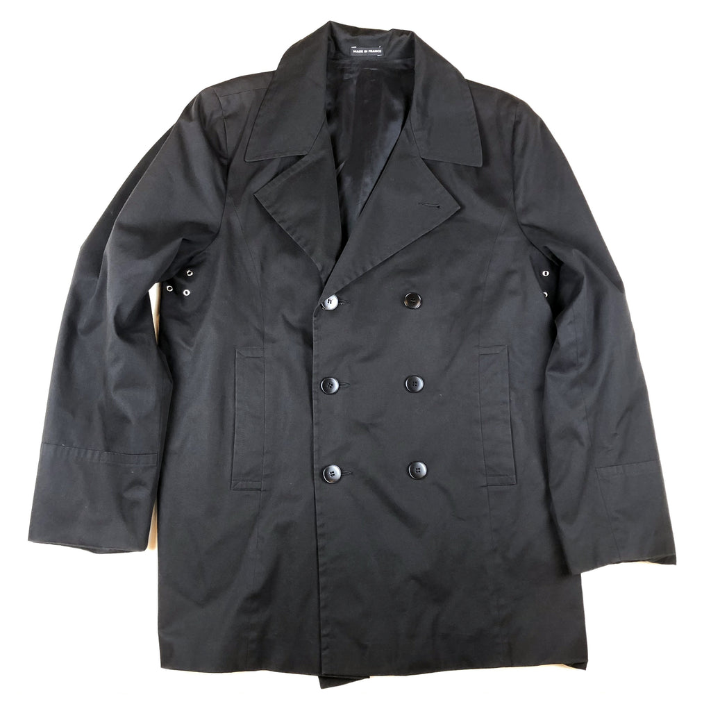 Agnés B. Homme Lightweight Cotton Peacoat