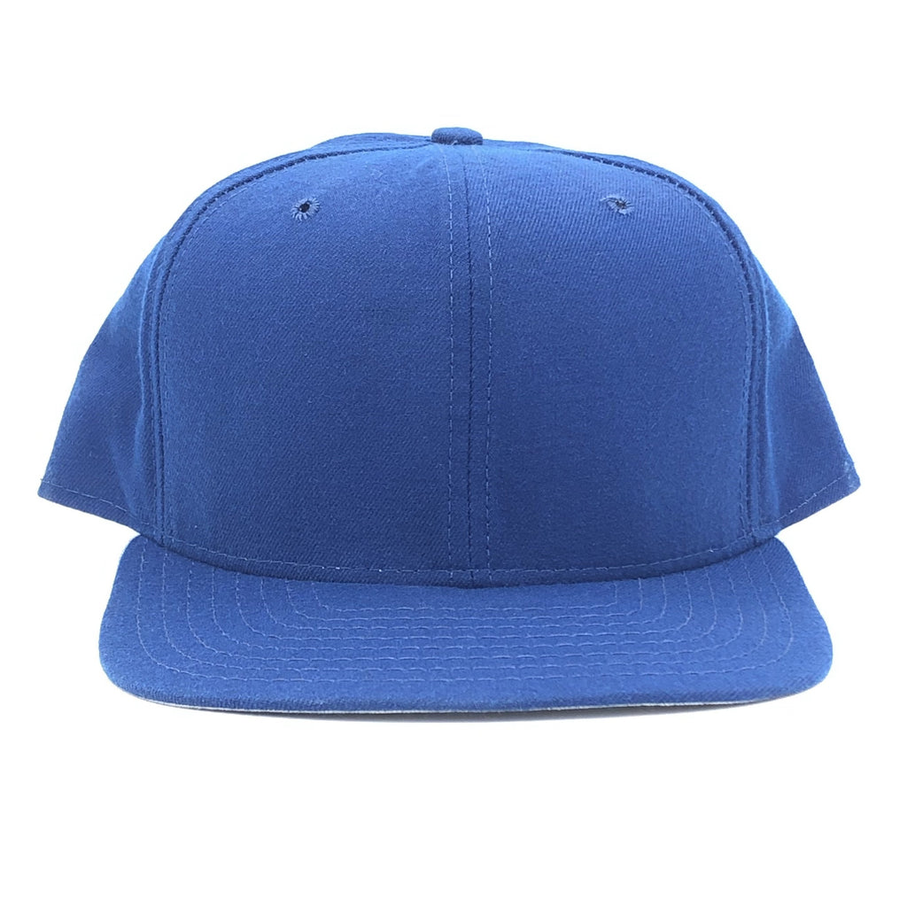 Blank New Era  Royal Wool Snapback Hat