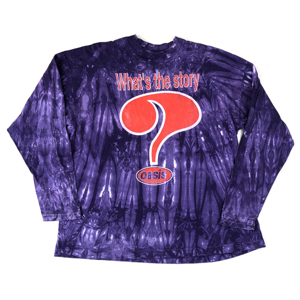 Oasis What's The Story? Tie Dye Long Sleeve T-Shirt