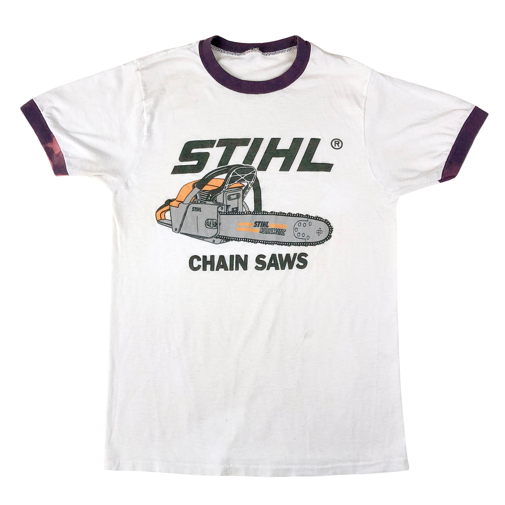 Stihl Chain Saws Ringer T-Shirt (Lightly Distressed)