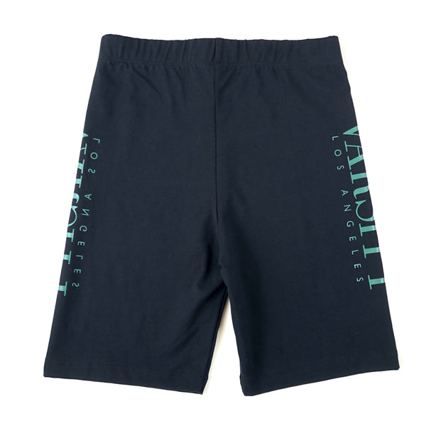"Varsity Los Angeles Cotton/Spandex ""Mirror"" Bike Shorts"