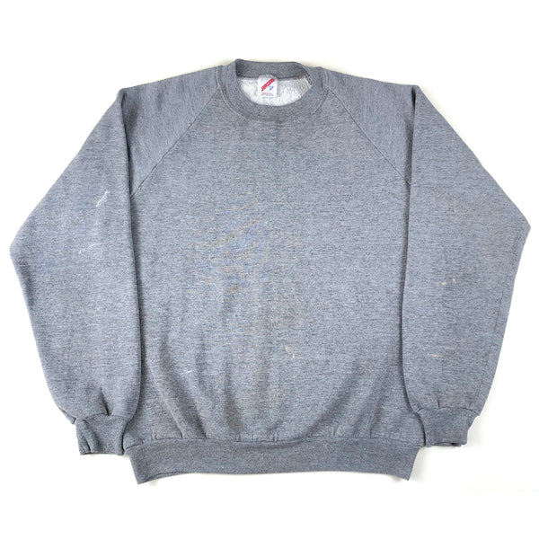 Blank Heather Grey Jerzees Raglan Sweatshirt (Light Paint Marks)