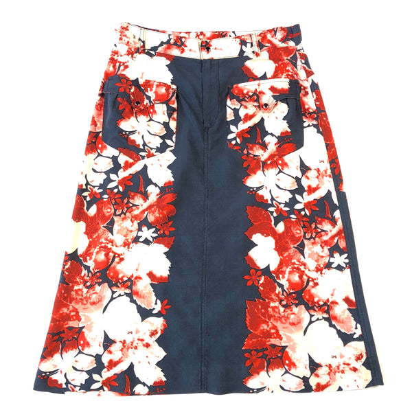 Gaultier JPG Jean's Floral Rayon Skirt