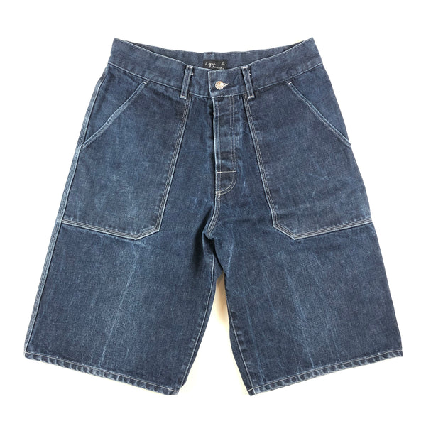 Agnès B Homme Baggy One Pocket Denim Shorts