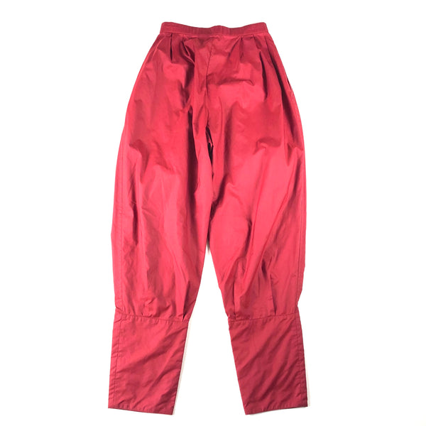 Issey Miyake Red Nylon Blend Pleated Pants
