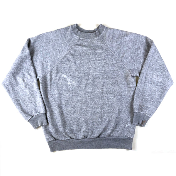 Blank Tultex Heather Grey Raglan (Distressed)