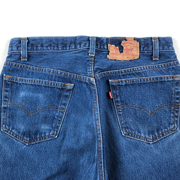Levi's 501's Med/Dark Blue Light Distressing 32 x 28 #13