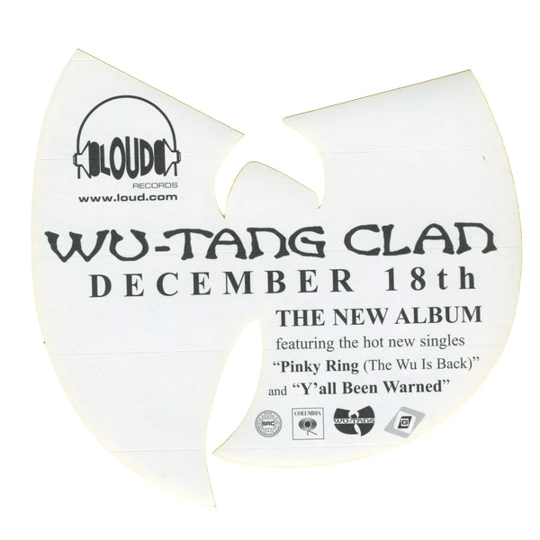 Wu-Tang Clan Iron Flag Promo Sticker