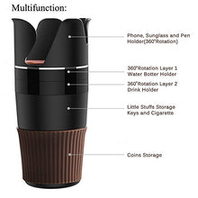 Stylish & Practical 5 in 1 Multi-functional Car Cup Holder