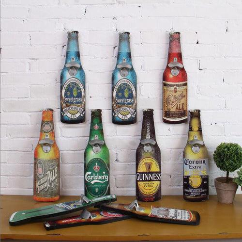 Beer Bottle Wall Opener For Cafe, Bar, Restaurant (American Retro Style)
