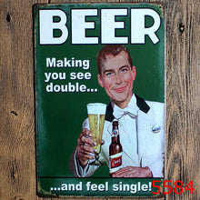 Retro Beer Related Metal Pub Posters