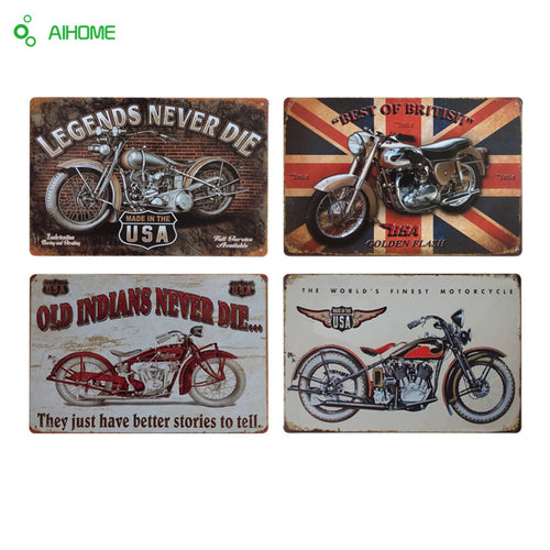 Vintage Retro Motorcycle Metal Posters