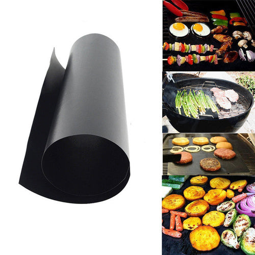 2pcs/set BBQ Grill Mat (For Barbecue or Microwave Oven)