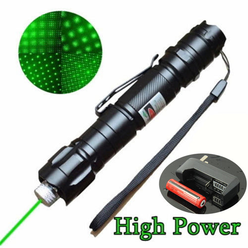 High Power Green Laser Pointer Pen + Charger