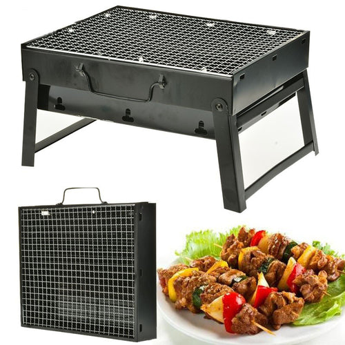 Compact Barbecue Grill from Stainless Steel (with Folding Legs)
