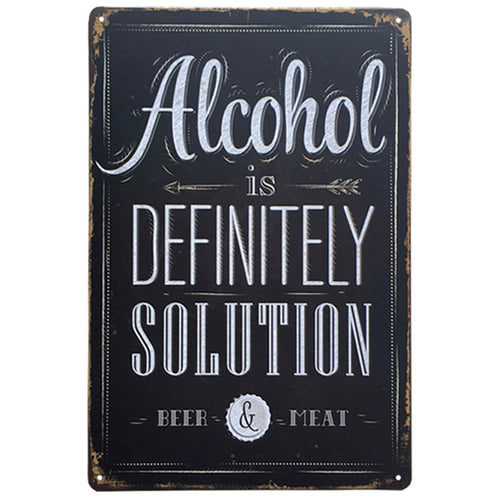 Chic Tin Poster for Bar or Home Decor