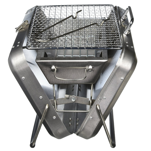 Compact Stainless Steel Suitcase BBQ (-20%OFF)