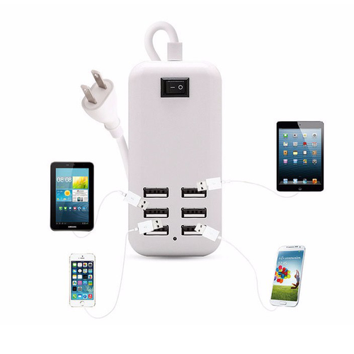 USB Charger With 6 Ports For Phone & Tablet