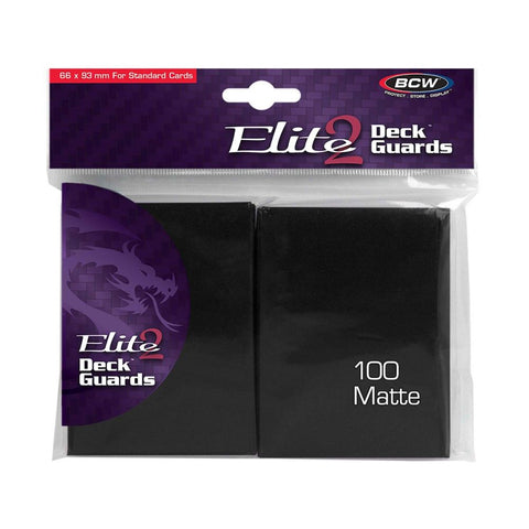 BCW Elite2 Deck Guard Matte Black Anti-Glare - STANDARD SIZE (100)
