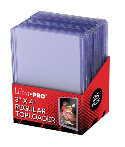 "UltraPro 3"" X 4"" Clear Regular Toploader 25ct"