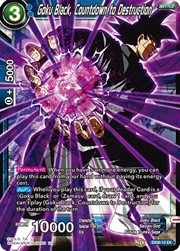 Goku Black, Countdown to Destruction (FOIL)