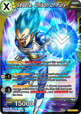Vegeta, Unison of Fury (FOIL)