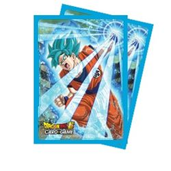 Dragon Ball Super Standard Size Deck Protector sleeves 65ct. - Super Saiyan Blue Son Goku - Bearded Collectibles