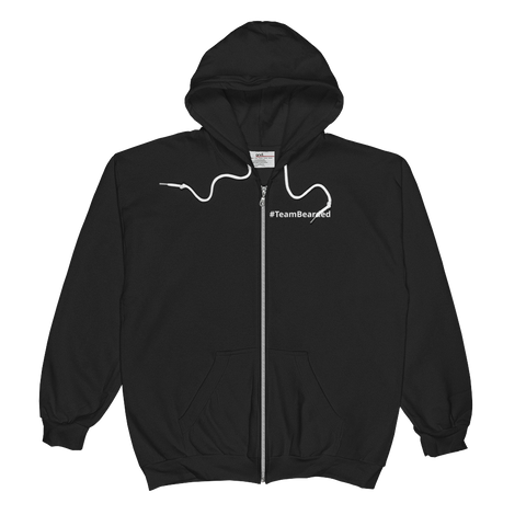 #TeamBearded Unisex  Zip Hoodie - Bearded Collectibles
