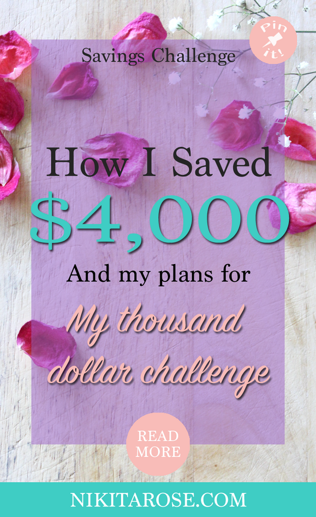 My Third And Fourth Thousand Dollar Savings Challenge