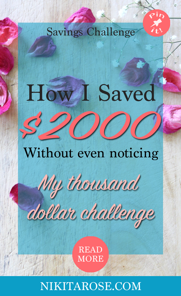 My First And Second Thousand Dollar Savings Challenge