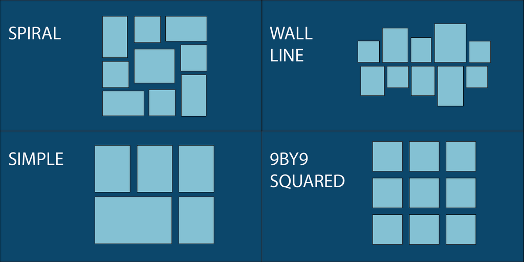 GALLERY WALL LAYOUT DESIGNS
