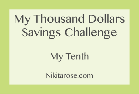My Tenth Thousand Dollars Savings Challenge + How I Spent It | Money Boss | Money Planner | Savings Challenge | $50,000 Dollars | NikitaRose.com