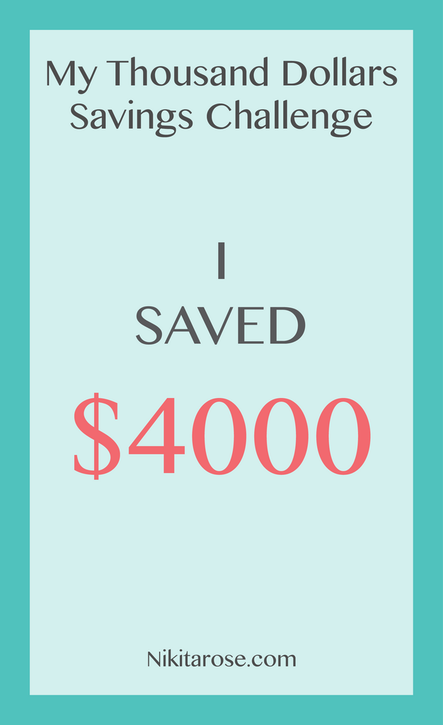 My Thousand Dollars Savings Challenge | How I Saved $4000 | My Third and Fourth Thousand Dollars |  Creating Wealth | Growing Wealth |