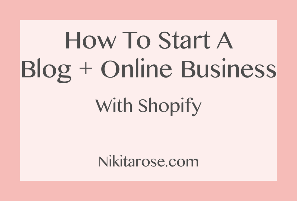 How to Start Your Online Business and Blog with Shopify. Start Selling Your Handmade Products With Your Own E-Commerce Website