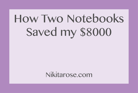 How I Saved $8000 | My Savings Challenge | How I Used My Travellers Notebook To Save $8000 | Planner Inserts | Nikita Rose