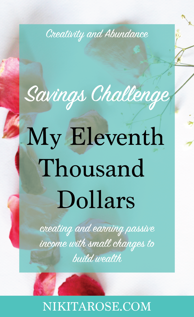 My Eleventh Thousand Dollars Savings Challenge - How to create wealth with small change