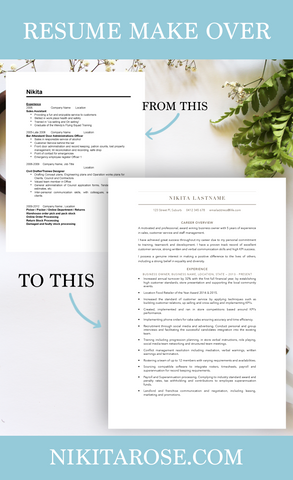 Creative Resume Make Over | The Ultimate Life Hack You Need To Slay Your Resume | How To Write A Killer Resume The Easy Way | Resume Templates | Resume Printables | Tips & Tricks