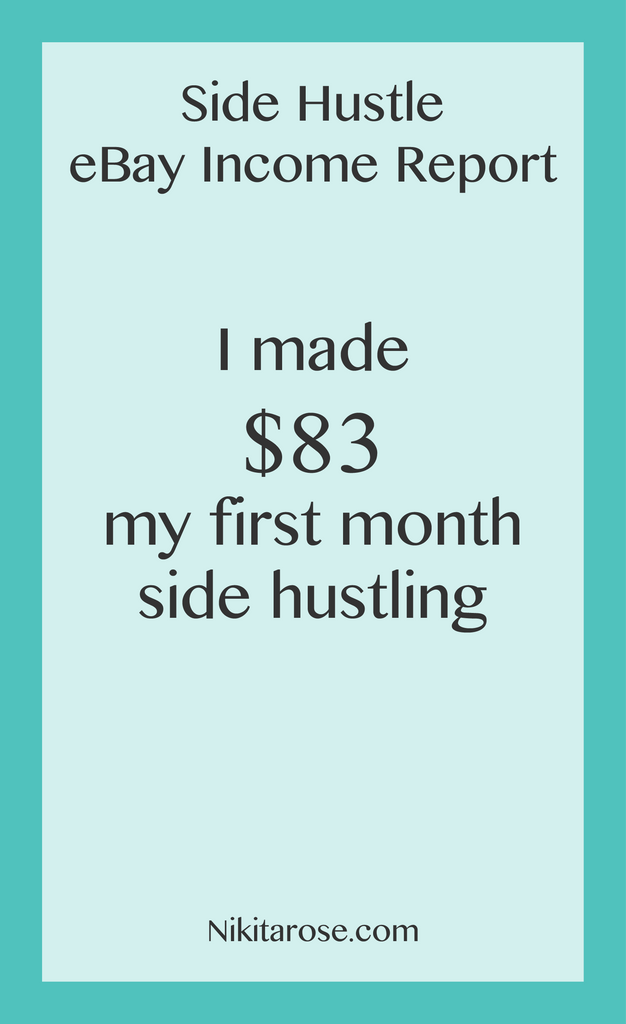 My First Side Hustle eBay Income Report