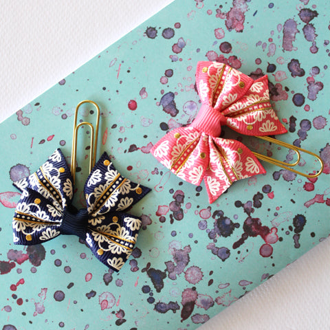 Watercolour Travellers Notebook Insert Nikita Rose Two bow clips