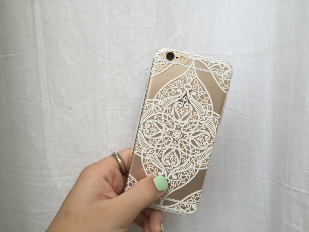 Symmetrical White Flower iPhone Case - SnapCali