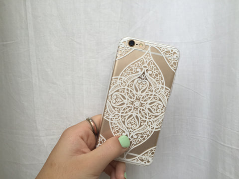 Symmetrical White Flower iPhone Case - Rachel Michelle USA