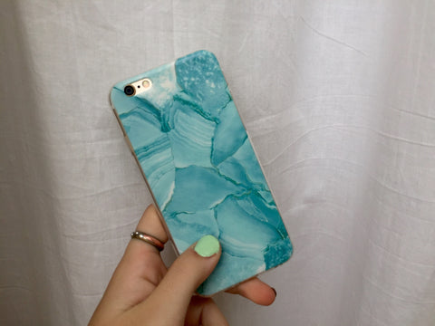 Green Marble iPhone Case - SnapCali