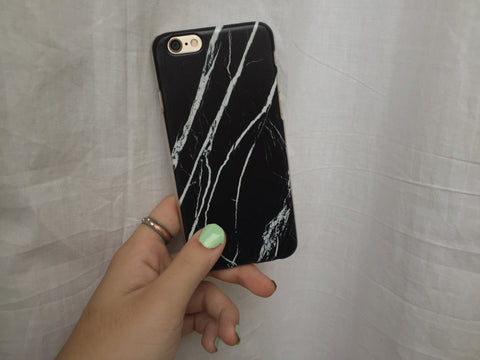 Black Marble iPhone Case - SnapCali