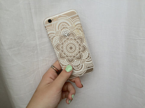 White Flower Mandala iPhone Case - Rachel Michelle USA