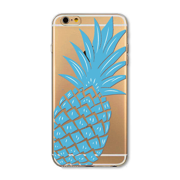 Blue Pineapple iPhone Case - SnapCali